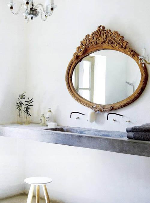 espejo vintage para el baño chicanddeco