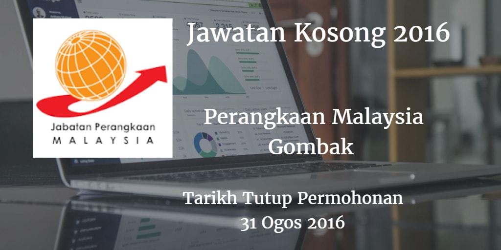 Jawatan Kosong Perangkaan Malaysia Gombak  31 Ogos 2016