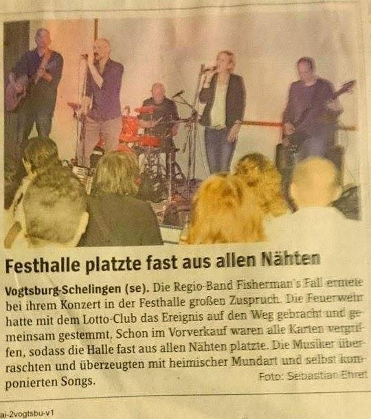 Fisherman's Fall live in Schelingen (Kaisertühler Wochenbericht)