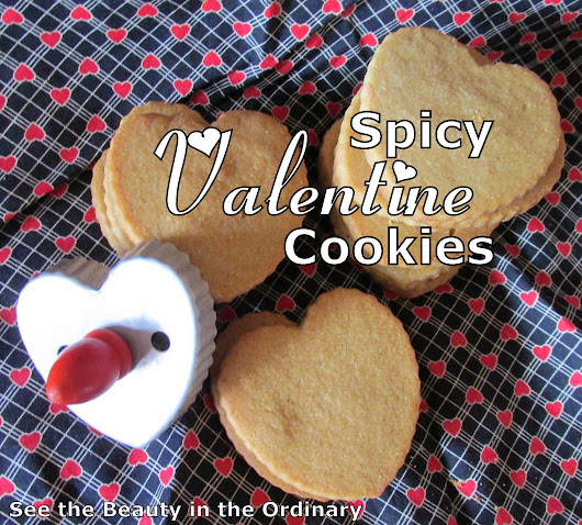 "Spicy Valentine Cookies say ""I Love You"""