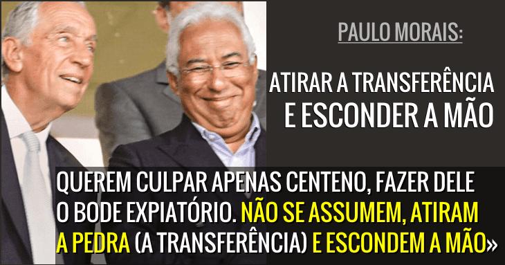 Novo Banco: «Querem culpar apenas Centeno» Paulo Morais