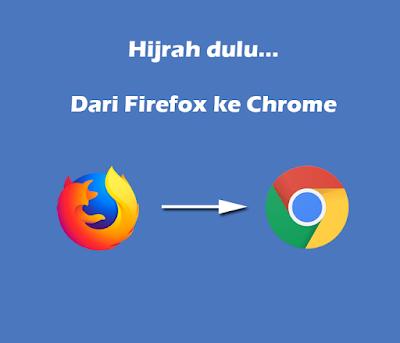 Alasan Saya Hijrah Dari Firefox Ke Chrome Untuk Blogging