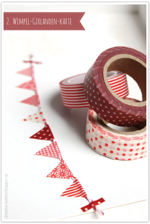 washi tape card craft idea christmas card washitape. Black Bedroom Furniture Sets. Home Design Ideas