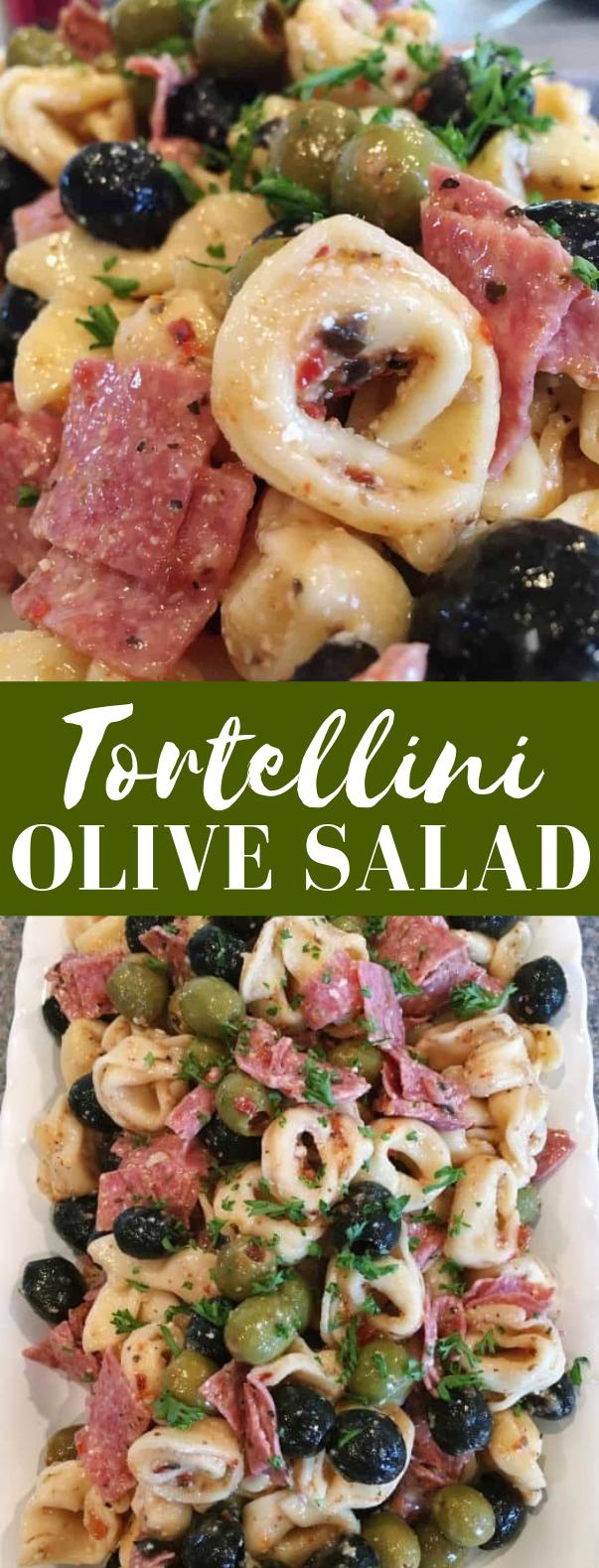 Tortellini Olive Salad #vegetarian #saladrecipe