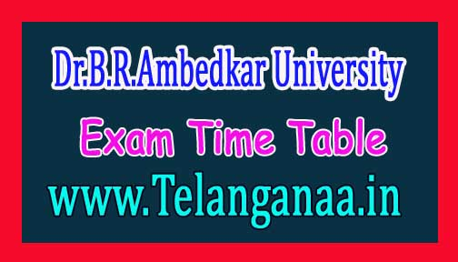 Dr.B.R.Ambedkar University BRAU B.Ed III Sem Exam Time Table 2016