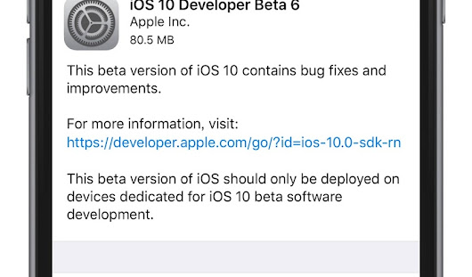Apple 同時推出 iOS 10、watchOS 3、tvOS 10 的 Developer Beta 6 更新