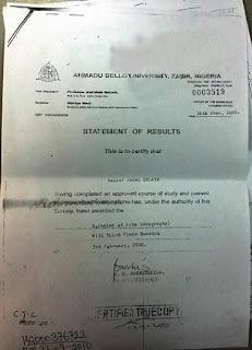Dino Melaye Certificate