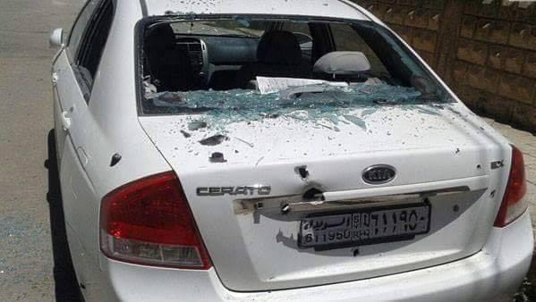 إصابة مواطن ووقوع اضرار مادية جراء سقوط قذائف صاروخية على مدينة السويداء