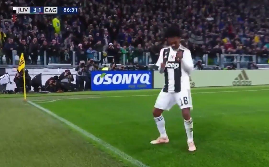 Juventus-Cagliari risultato finale 3-1: Cuadrado segna e balla la salsa colombiana.
