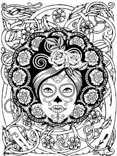 Mandala de día de muertos para colorear