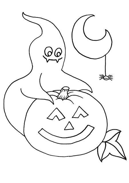 dibujos de fantasma halloween para colorear
