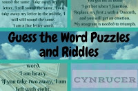 Guess the Word Puzzles and Riddles