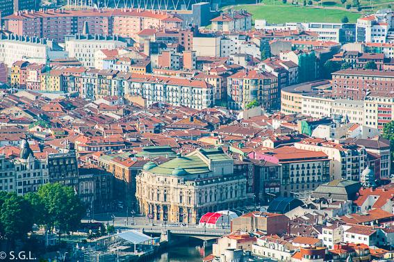 El casco viejo desde Archanda. Bilbao