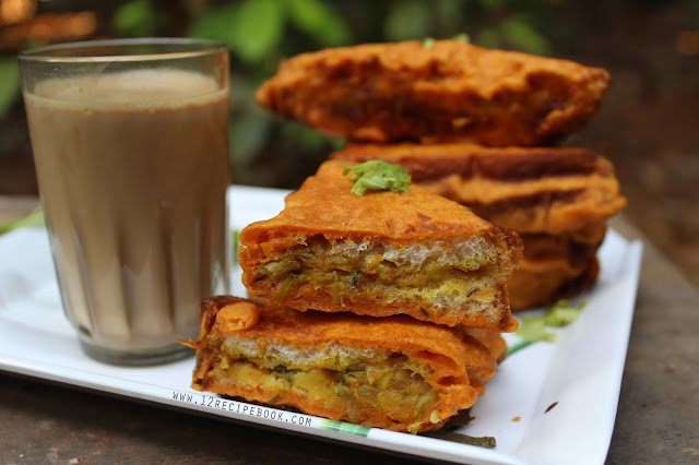 Aloo Stuffed Bread Pakoda