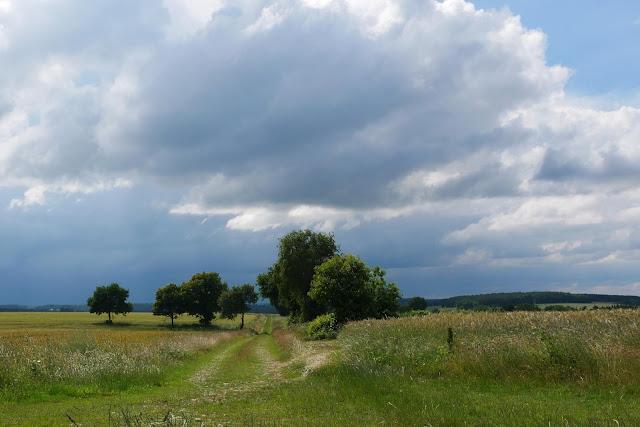 temps orageux en juin 2018, près des mégalithes de Cojoux