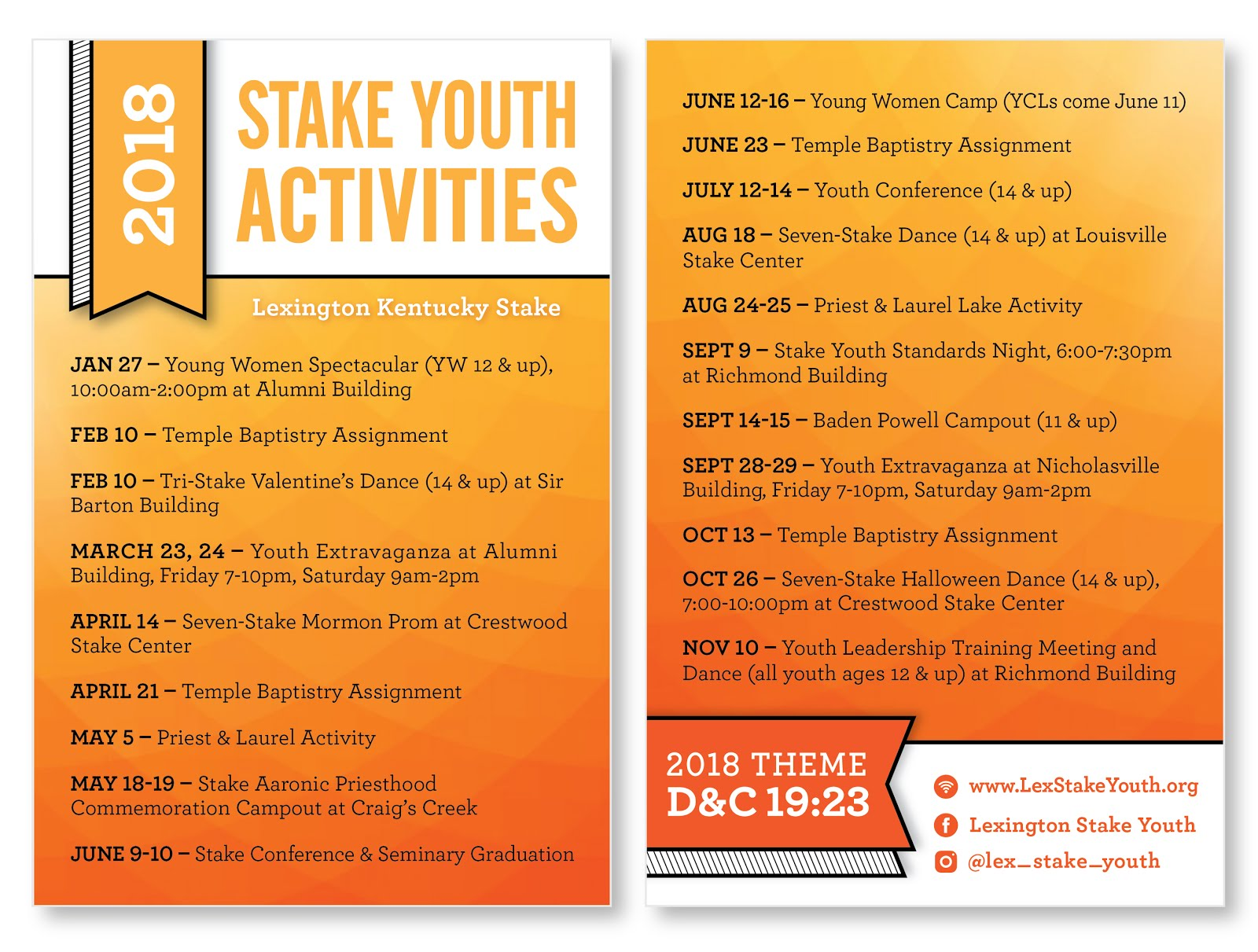 YW and YM combined LDS Young women activities Youth