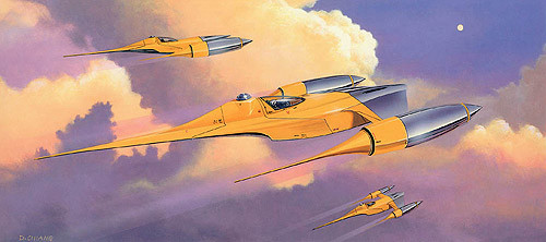 naboo fighter yellow ship concept art