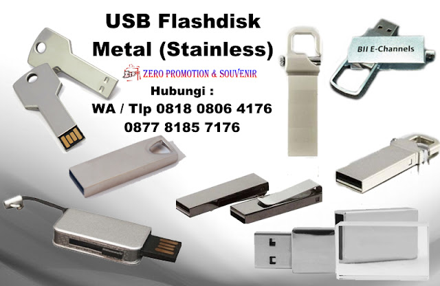 Jual USB Flashdisk Metal (Stainless)