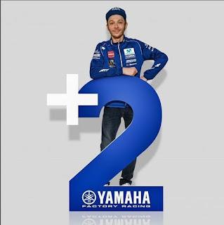 Kontrak Rossi Di Yamaha Diperpanjang 2 Tahun Lagi