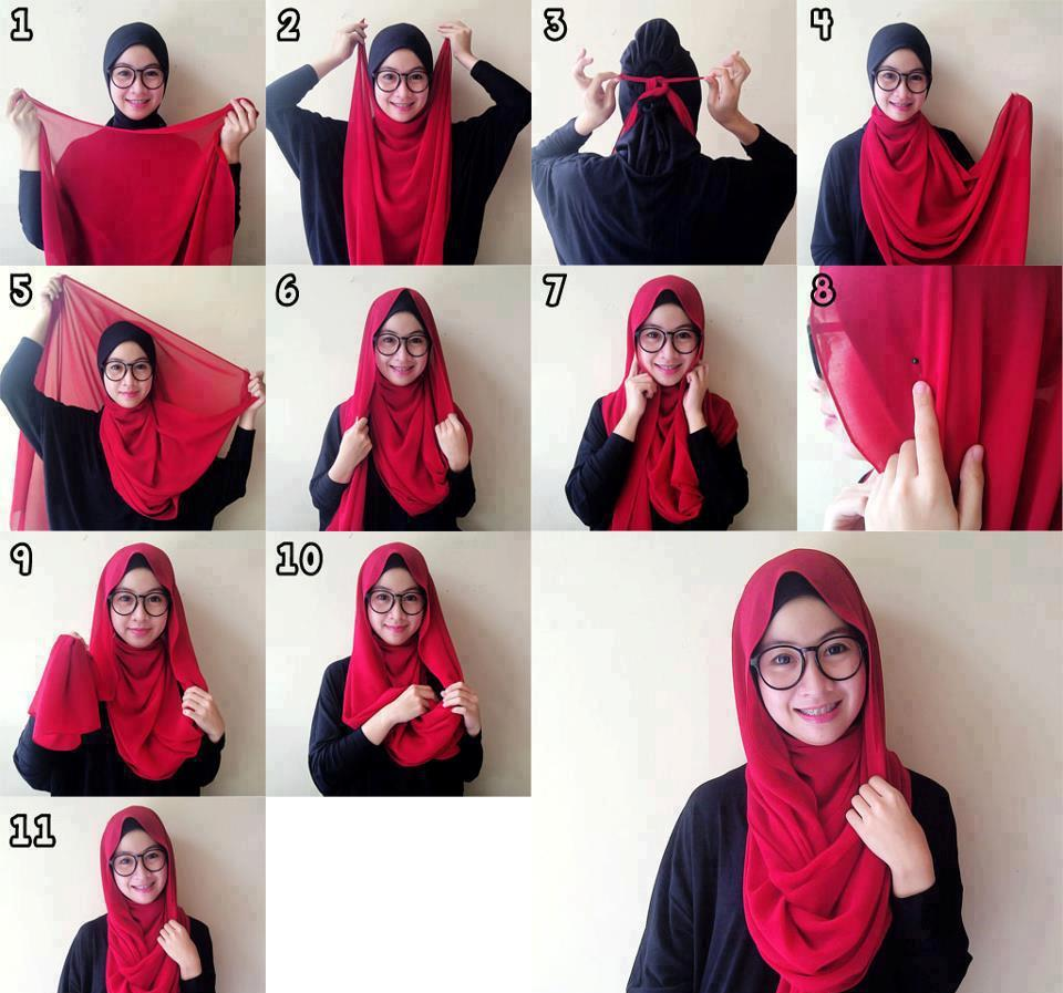 Tutorial Hijab Paris Untuk Pelajar SMP SMA Kumpulan Contoh
