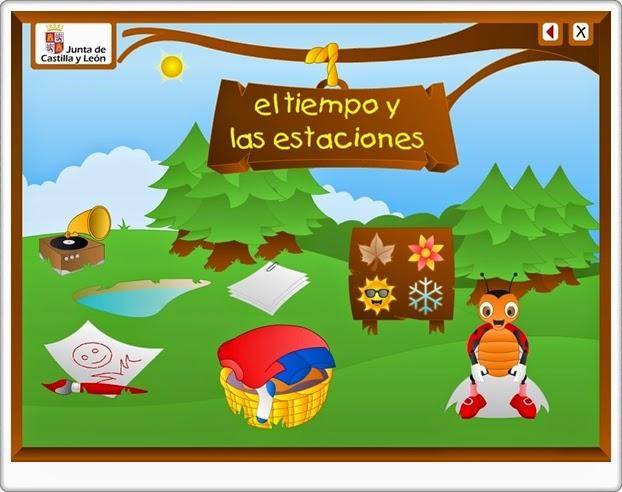 """""""El tiempo y las estaciones"""" (Aplicación interactiva de Educación Infantil)"""