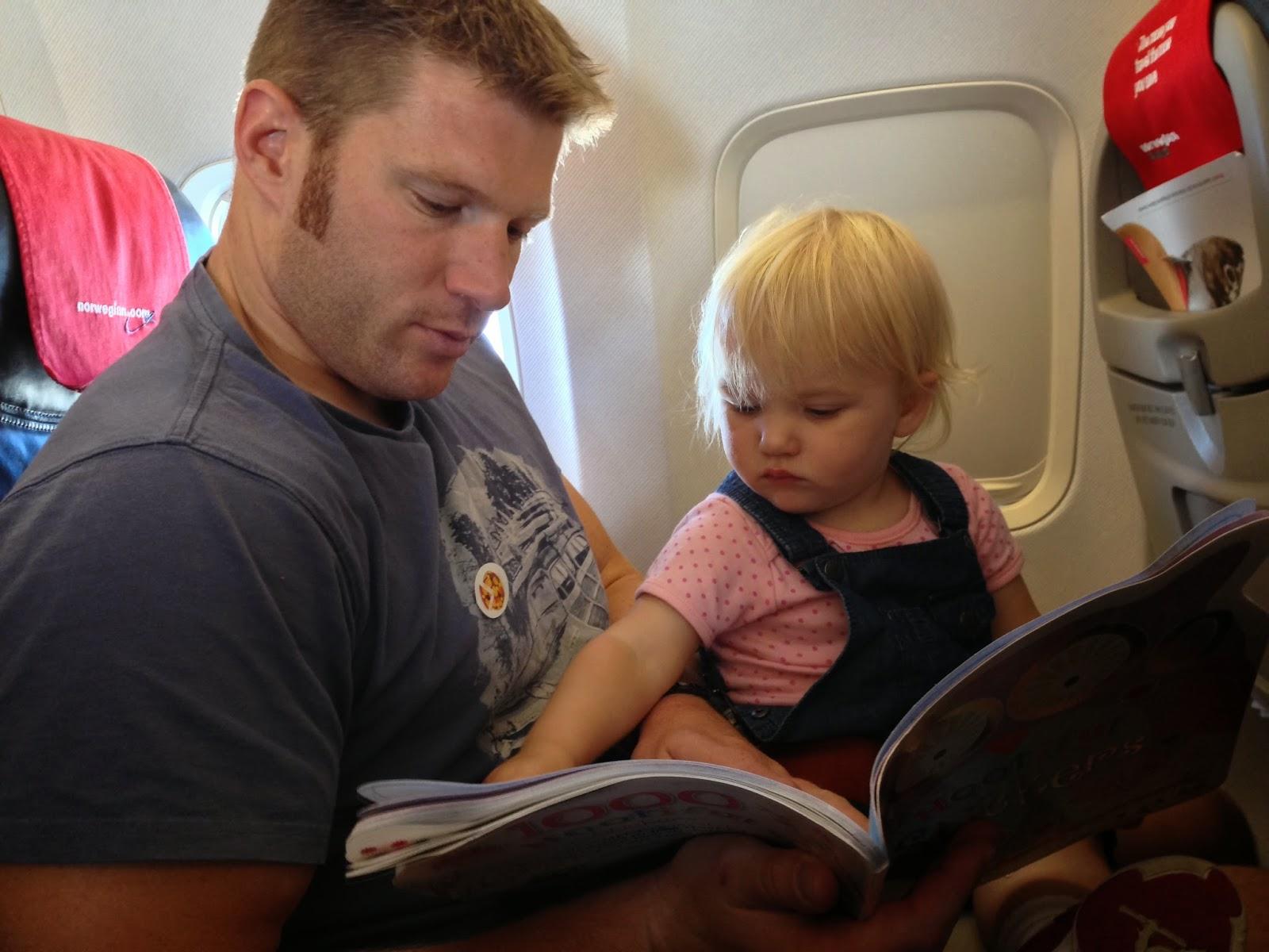 Mr TB and Tin Box Tot on plane