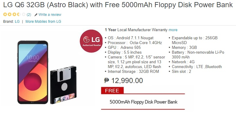 super popular b0272 8551c LG Q6 now on Lazada for Php12,990 with a cool free accessory ...