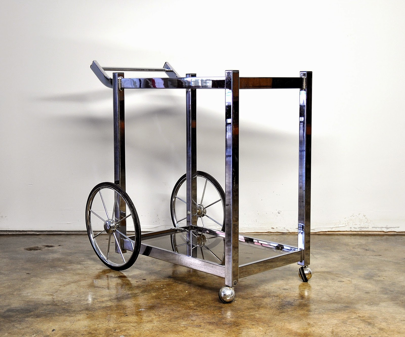 select modern mid century modern chrome rolling bar. Black Bedroom Furniture Sets. Home Design Ideas