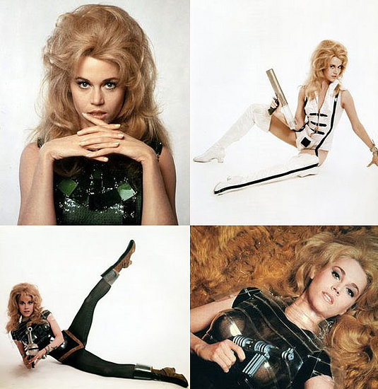Jane Fonda multiple sexy images as Barbarella