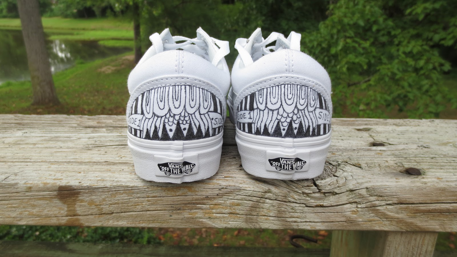 This is my third pair of hand painted canvas shoes. This is my first pair  of Vans. 6f95a8776