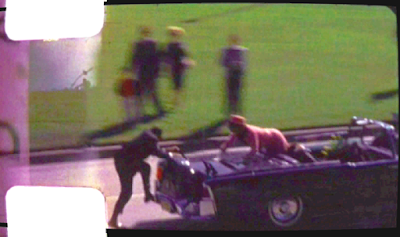 Zapruder film - JFK assassination - Jackie climbs back