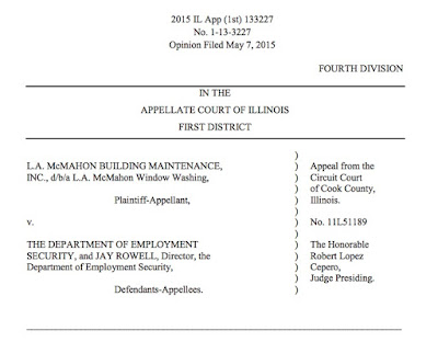 Plaintiff L A Mcmahon Window Washing Sought Administrative Review In The Circuit Court Of Cook County Decision By Defendants Illinois