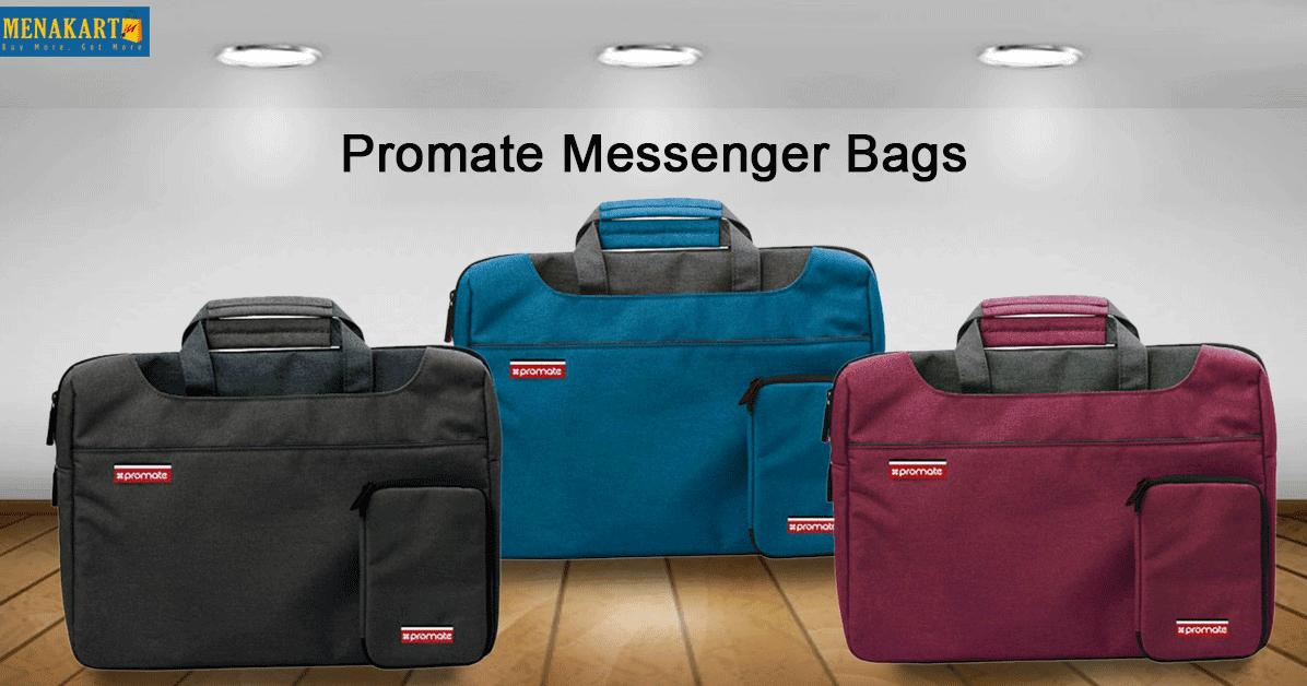 0fc9bb4909 Online Shopping in Dubai  Shop for Promate Messenger Bag with Elegant  Classic Handbag Design for Laptops Online at Menakart.com