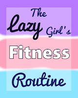 Lazy girl's fitness routine. Pastel pink, purple and turquoise mint title background.