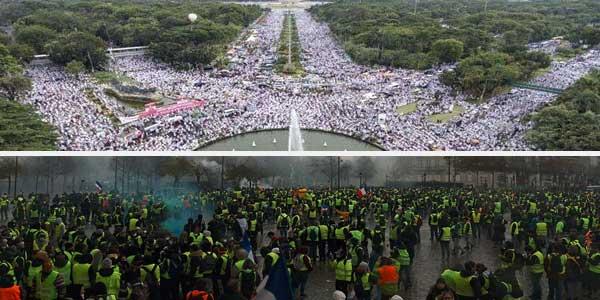 Netizen Bandingkan Reuni 212 & Demo Kenaikan Harga BBM di Paris