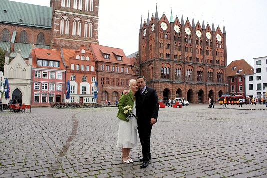 Brautpaar Standesamt Rathaus Stralsund