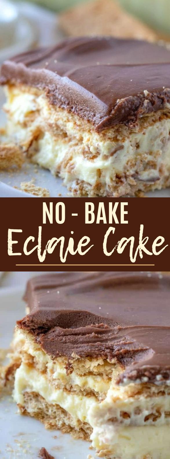 No-Bake Eclair Cake #dessert #cake