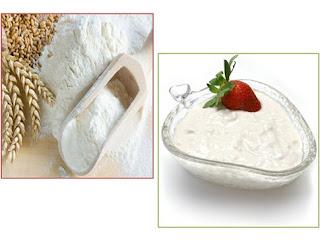 làm trắng da với bột mì (3)