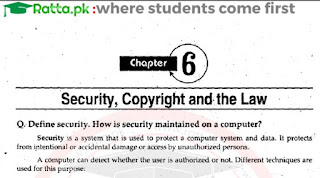 1st Year Computer Chapter 6 Long Questions pdf - ICS Part 1