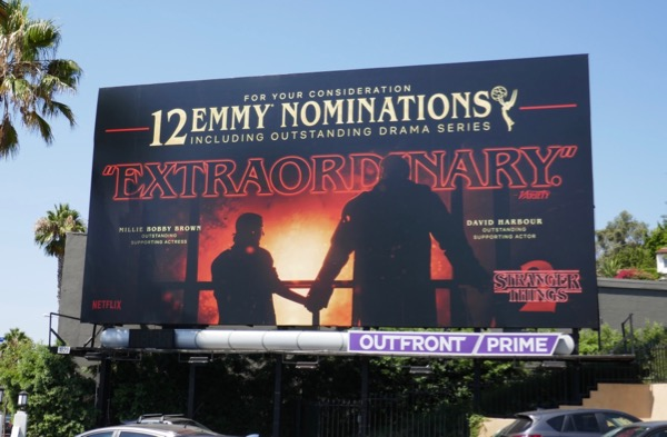 Stranger Things 2 Emmy nominee billboard