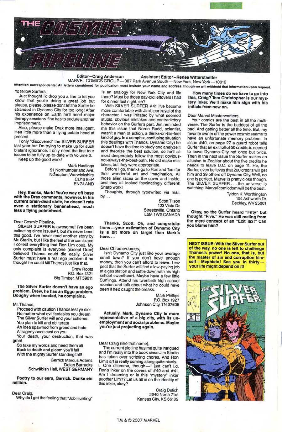 Read online Silver Surfer (1987) comic -  Issue #44 - 33