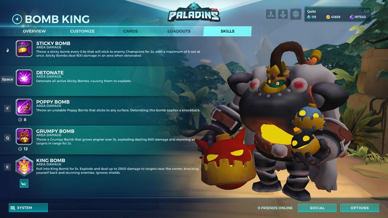 bomb king paladins skill list
