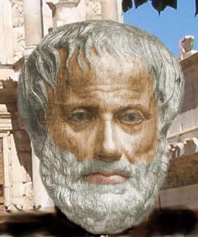 Raffigurazione artistica di Aristotele