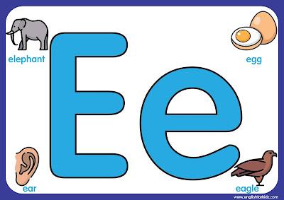 Letter e - big printable alphabet letters