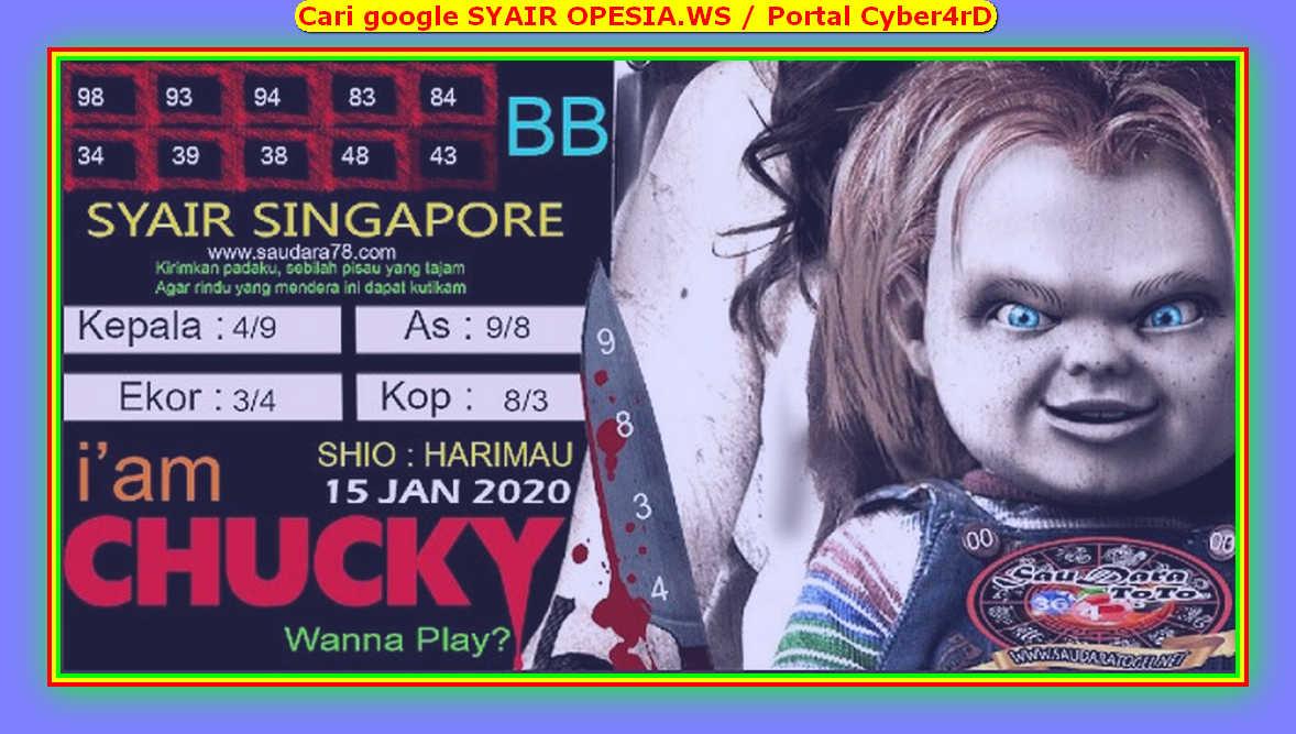 Kode syair Singapore Rabu 15 Januari 2020 134