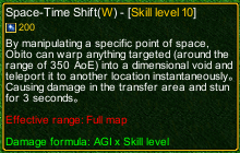 naruto castle defense 6.0 Space-Time Shift detail