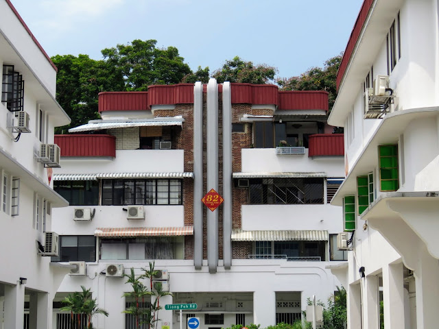 Art deco apartments in the Tiong Bahru neighborhood of Singapore