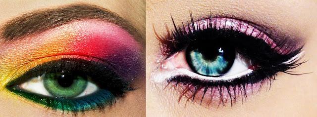 arcoiris y rosa