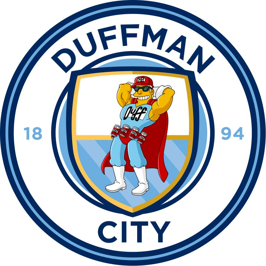 The Simpsons' version logo of Manchester City