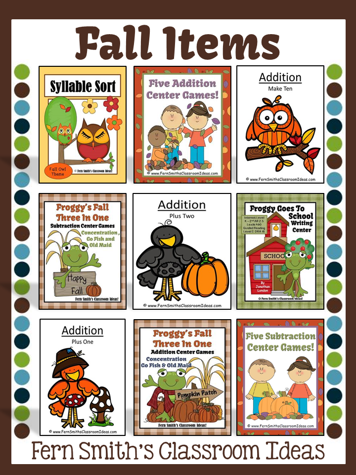 Fern Smith's TeachersPayTeachers BOOST Sale with TPT Discount Code for my Fall Items!